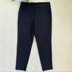 Nike dri-fit woman black flat front track pants